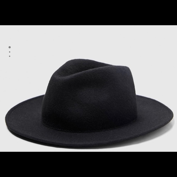 b2f1f6fe (ZARA) Black felt hat (men's)